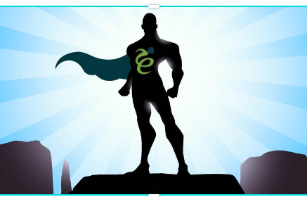superhero with westpeak logo on chest nbsp
